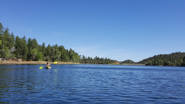 Kayaking on Lynx Lake, Prescott AZ