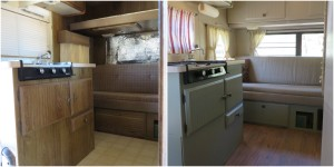 Trailer kitchen renovation
