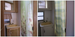 Trailer bathroom renovation